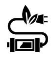 eco plug icon simple style vector image