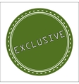 Exclusive Icon Badge Label or Sticke vector image vector image