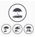 Family Real estate or Home insurance icon vector image