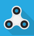 finger spinner stress relieving toy vector image