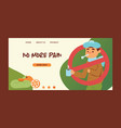 flu sick man character with fever and illness and vector image