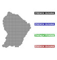 french guiana map in dot style with grunge name vector image