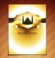 golden festival template vector image vector image