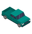 green pickup icon isometric style vector image vector image