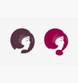 hair salon or spa logo abstract portrait a vector image
