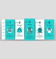 hijab onboarding icons set vector image vector image