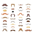 Huge set of mustache vector image vector image