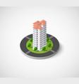 icon dimensional building vector image