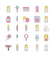 icon set pregnancy cartoon vector image vector image