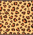 leopard skin seamless pattern vector image