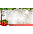 light christmas background with baubles vector image
