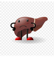 liver human internal organ happy character vector image vector image