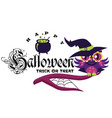 logo owl in halloween costume of witch mystery vector image vector image