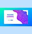 machine learning landing page vector image vector image