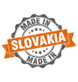 made in slovakia round seal vector image vector image