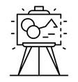 museum picture icon outline style vector image vector image