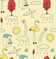 Natural vintage lifestyle pattern vector image vector image