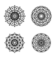 Ornament round set with mandala vector image