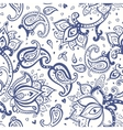 Paisley Hand drawn seamless pattern vector image vector image