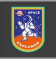 patch with astronaut vector image
