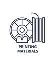 printing materials line icon concept printing vector image