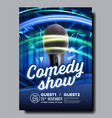 promotional banner of night stand up show vector image