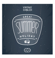 Retro handmade summer emblem vector image vector image