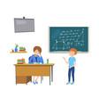 school class behavior teacher vector image vector image