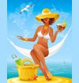sea beach people travel banner summer holidays vector image