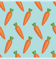 seamless background pattern of whole carrots vector image