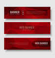 set horizontal web banners with abstract red vector image vector image