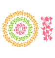 set of round vintage floral borders circle frames vector image