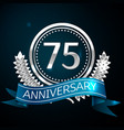seventy five years anniversary celebration design vector image vector image