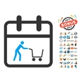 Shopping Day Flat Icon with 2017 Year Bonus vector image