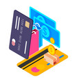 shopping infographic shopping online store concept vector image vector image