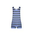 Striped retro swimsuit in blue and black design vector image