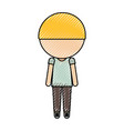 stylish avatar cartoon boy vector image