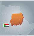 sudan information map vector image vector image
