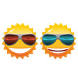 sun in sunglasses vector image