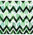 tropical palm leaves seamless foliage pattern vector image vector image