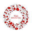 valentines day background valentines day vector image vector image
