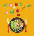 vegan diet healthy lifestyle vector image vector image
