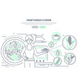 vegetarian cuisine - modern thin line design style vector image