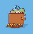 wallet with money design vector image vector image
