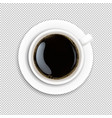 white cup coffee transparent background vector image