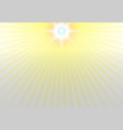 center of the sunlight on top background vector image