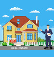real estate broker at work vector image