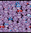 purple smile emoticons wallpaper happy cry sad vector image