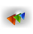 three colors triangles vector image