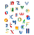 Alphabet letters and icons vector image vector image